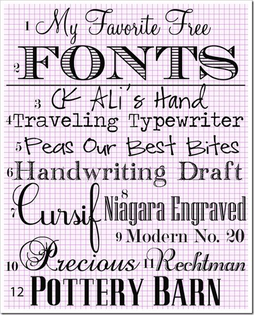 Fonts for Scrapbooking perhaps?