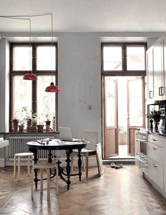 Old meets new kitchen