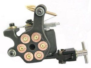 Handmade Bullet Tattoo Gun/Machine 10 Wrap Coils / Clip Cord / Foot Pedal by Tattoo. $15.99. Professional Handmade Tattoo Machine. Comes with  Clipcord + Foot Pedal. This Machine has a Revolver Bullet design. Smooth Running. Built with a steel tattoo frame and is extremely smooth running. Professional Handmade Tattoo Machine.    This Machine has a Revolver Bullet design.    This is built with a steel tattoo frame and is extremely smooth running.   This Machine ha...