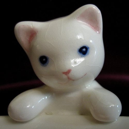 Ceramic baby cat.