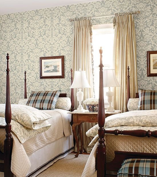 Traditional twin beds