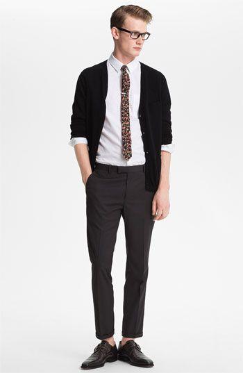 Full kit: Topman cardigan, shirt and trousers