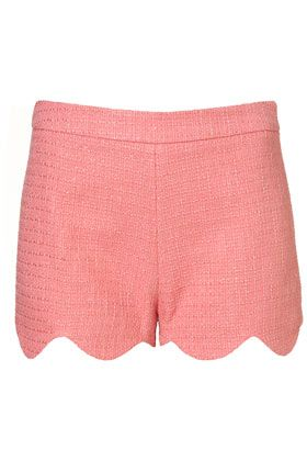 salmon scalloped shorts