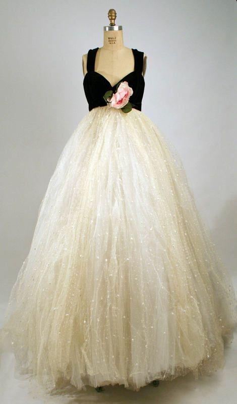 1957-58 evening dress