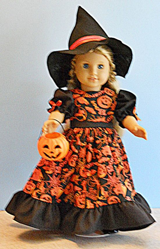 American Girl Doll Clothes  Witch Costume with by Magicgeniecrafts, $20.00