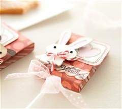 Kids love animals! Wrap lollipops with your favorite paper and then decorate the front with the sweet animals from the Cricut® Alphabet cartridge for a fun Valentine treat!