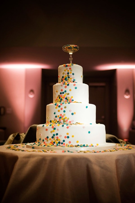 Confetti Cake / Cake Divas {Anna Page Photograph} #cake #weddingcake