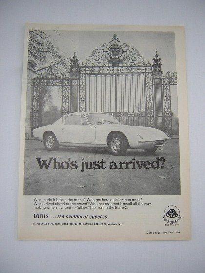 =-=Original Lotus Elan +2 Advert from 1969 - Sports Car Ad Advertisement Classic