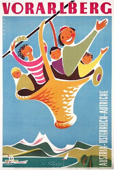 Austria, 1950 #vintage #travel #poster
