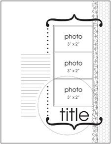 Scrapbook page idea - 3 www.pagemaps.com/...