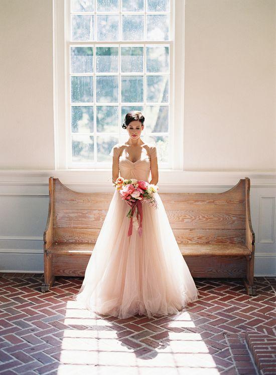 gorgeous blush gown