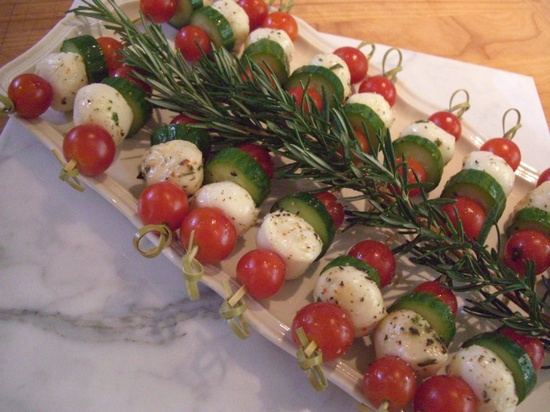 Mediterranean appetizer-great Christmas colours