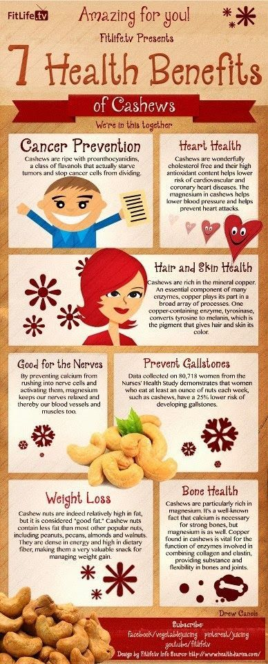 The amazing health benefits of Cashews ! via www.bittopper.com...