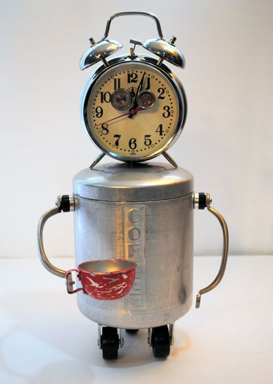 Upcycled metal coffee container - coffee - #coffee  = this is just fun!