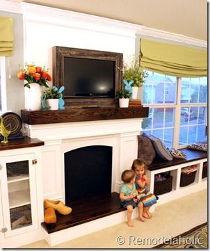 build and decorate a faux mantel, plus how to frame your tv