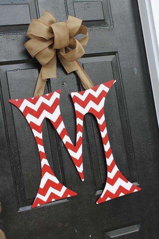 Chevron 24 inch Initial Letter Door .