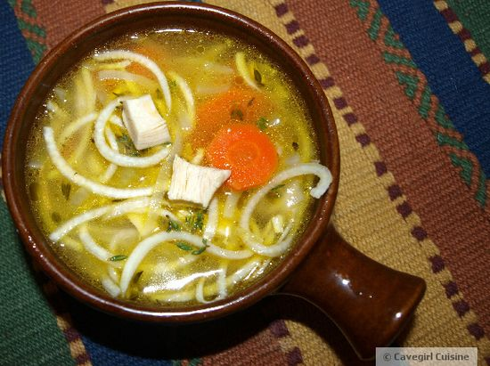 "Chicken ""Noodle"" Soup   #cleaneating #paleo #glutenfree"