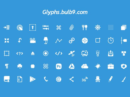 Free Glyphs Set, #Free, #Glyphs, #Graphic #Design, #Icon, #PSD, #Resource