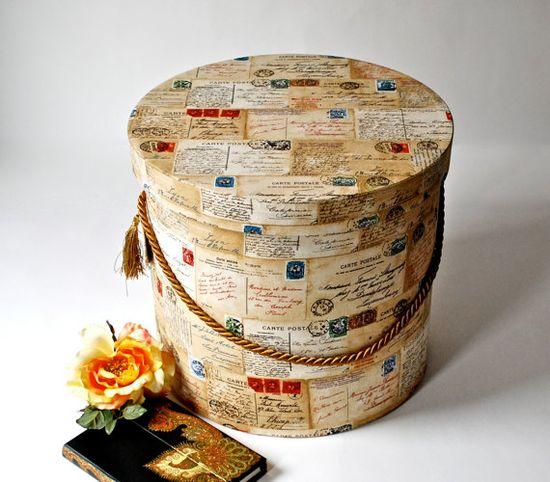 Hutschachtel Schachtel Postcards hat box handmade gift by Arsunica, €89.00