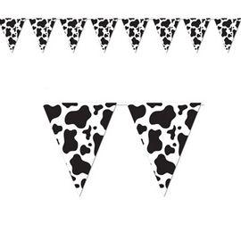 Cowboy Party Cow Print Banner