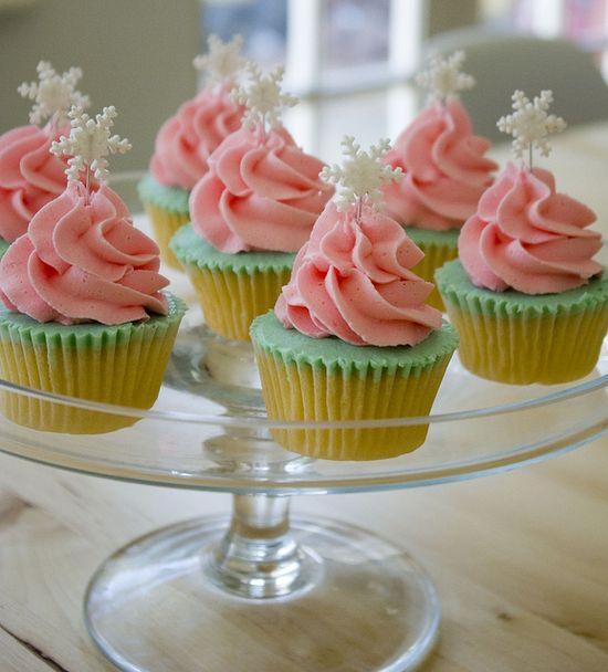 Shabby Chic Christmas Trees Cupcakes
