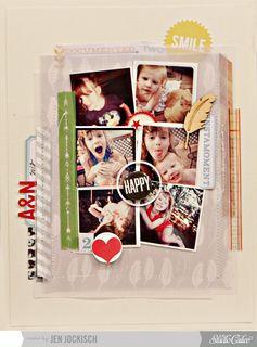 #papercraft #scrapbook #layout    happy - MAIN kit!! by Jen Jockisch Nov 12
