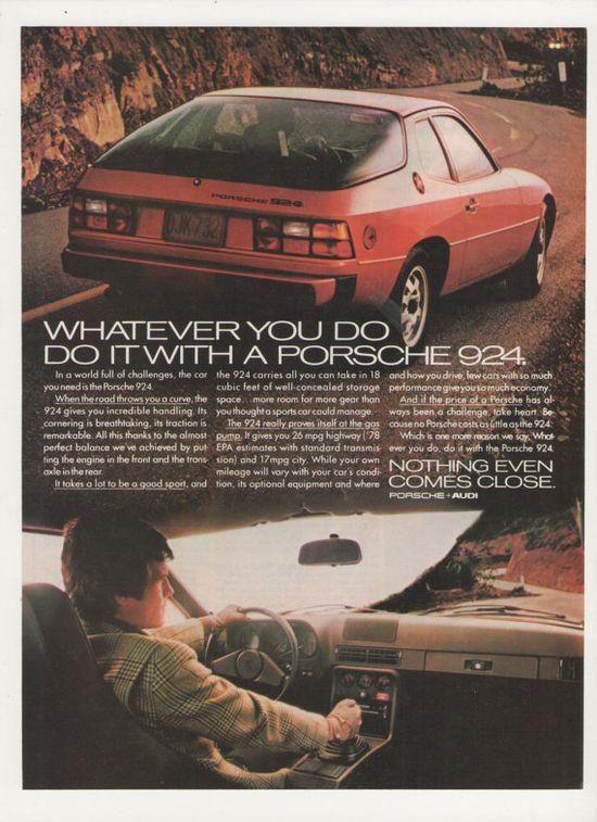 =-=1978 Porsche 924  Advertisement Sports Car
