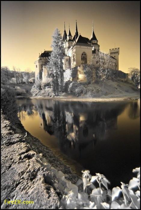 Snow in Bojnice Castle, Slovakia