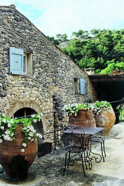 18th century French hotel - La Bastide de Marie.  Menerbes, FR. The stonework is beautiful.