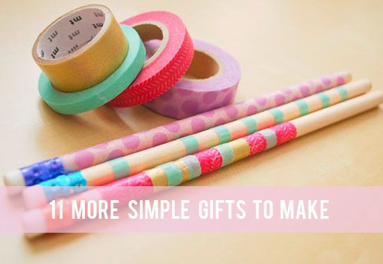 Creative: Eleven More Simple Gifts To Make