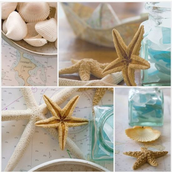 love the seashells, starfish .. dreaming of the beach this morning