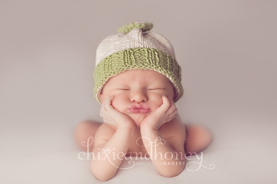 Cute newborn photo.