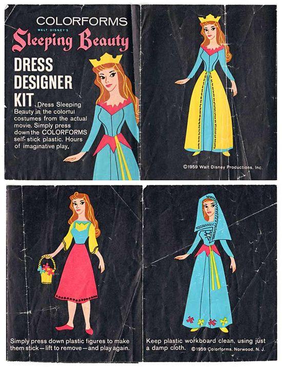 Colorforms 1959 Walt Disney's Sleeping Beauty Dress Designer Kit
