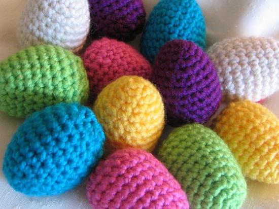 EGGS  Crochet  Dozen Handmade set of 12 by molliebrown on Etsy, $10.00