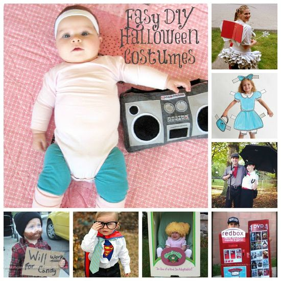 Easy DIY Halloween Costumes from MomAdvice.com.