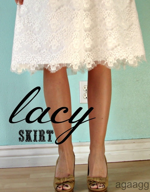 lace (almost entitled don't you know you aren't supposed to wear white after labor day?) - A girl and a glue gun