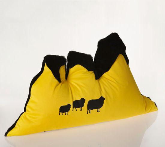Anna Thorun sheep/mountains pillow