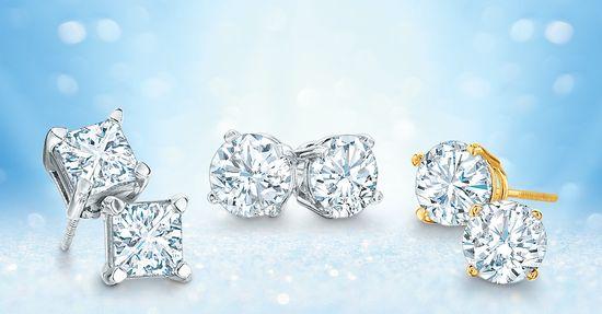Delightful diamond stud earrings