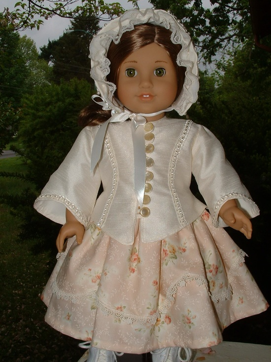1850's Ivory Silk Jacket and Bonnet - Reserved for Lorie. $98.00, via Etsy.