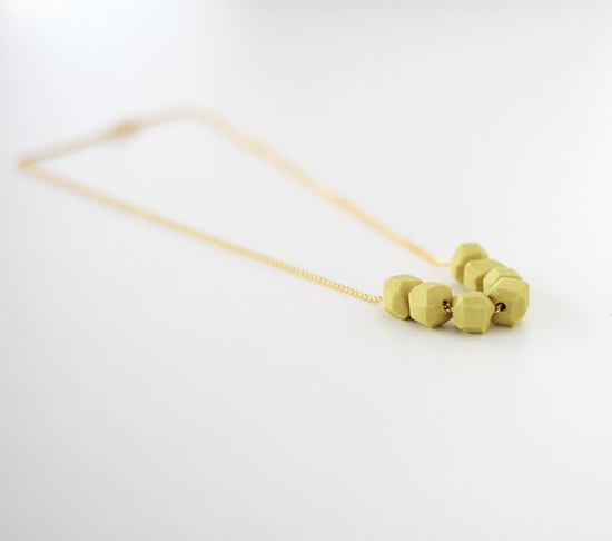 new geo necklace #etsy #ammjewelry #necklace #handmade #gold #chain
