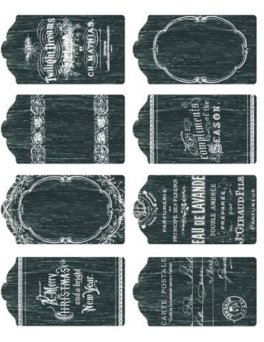Printable Chalkboard tags, labels