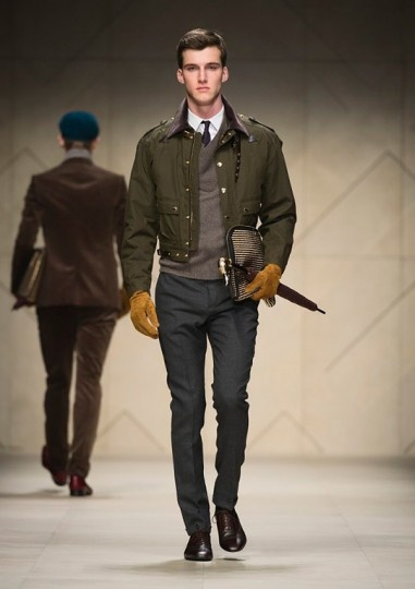 Casual, Military Inspired. Burberry Prorsum F/W 2012 Mens Collection