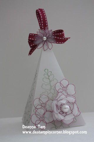 Floral Petal Cone Box