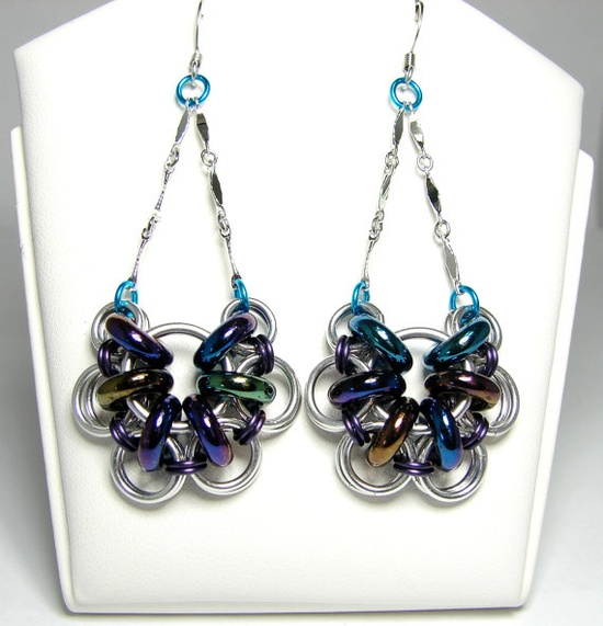 Chainmaille Earrings Akimbo Chainmaille