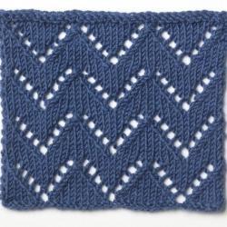 Chevron Print Knit Stitch Patterns