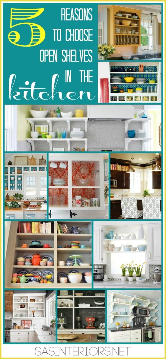 5 Reasons to Choose Open Shelves in the Kitchen: Showcasing examples + ideas for open shelves