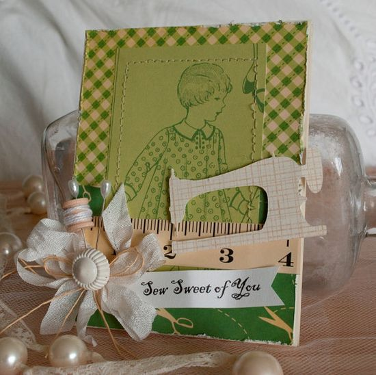 """""""Sew Sweet of You"""" card"""