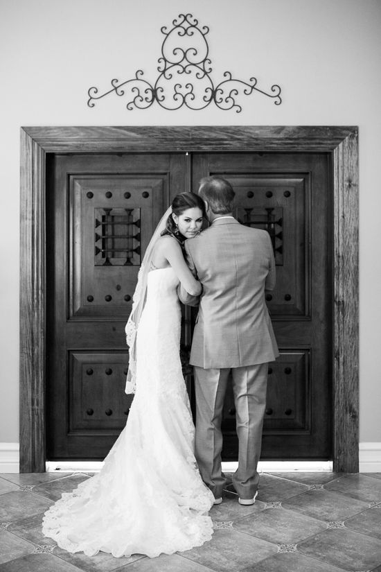 Daddy daughter Pic before walking down the aisle! Adorable