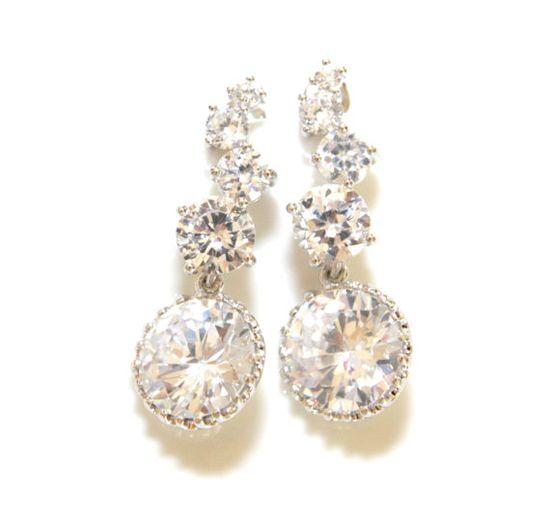 Luxe Wedding Bridal Earrings by GlitzAndLove