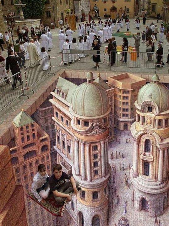 Street 3D art: Byzantine buildings